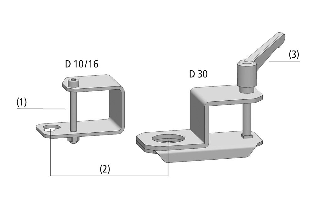 Holders for Square Tubes HTR-STS