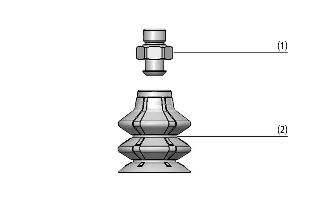 Ventouses à soufflets SPB2 (2,5 soufflets)