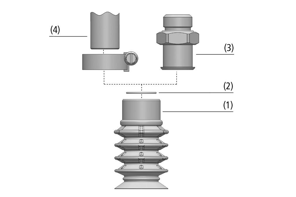 Balgsauggreifer SPB4 (4,5 Falten)