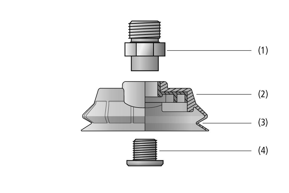 Balgsauggreifer SPOB1f (oval, 1,5 Falten)
