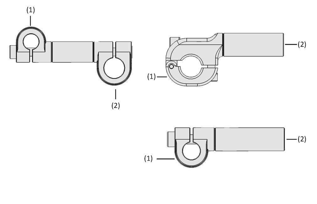 Piezas de fijación con prolongación SXT-CL-EXT