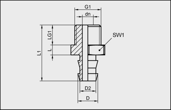 SA-NIP N031 G1/4-AG DN550