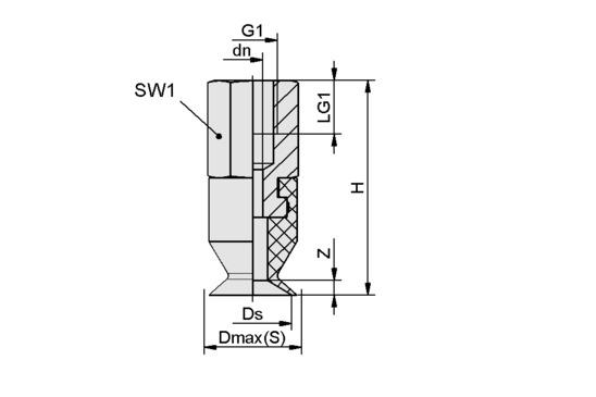 SGAN 13 PU-60 G1/8-IG