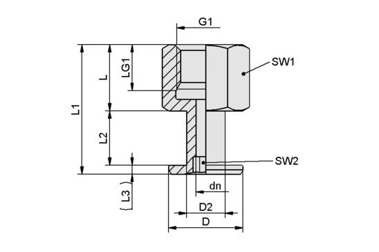 SA-NIP N007 G1/8-IG DN350