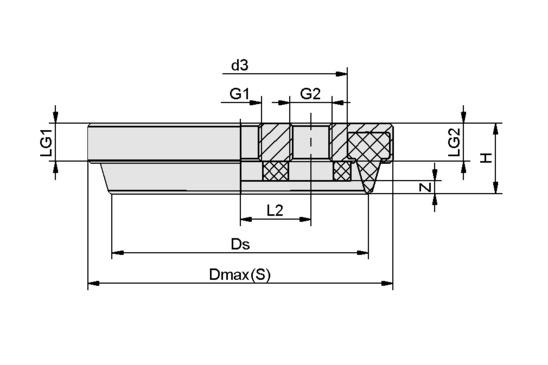 SPK 160 MOS EPDM-15 G1/2-IG