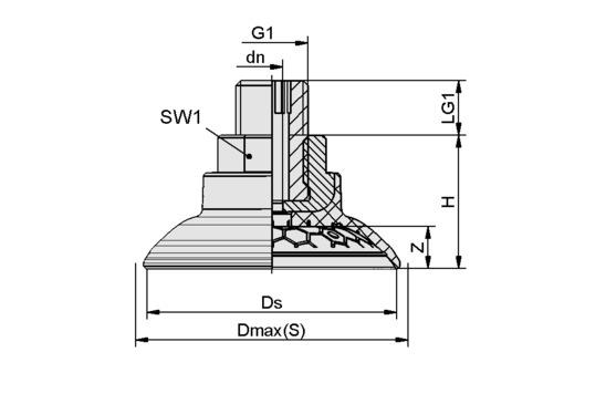 SAG 45 NBR-60 G1/4-AG
