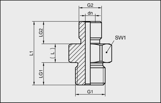 RED-NIP G1/4-AG M10x1.25-AG AL