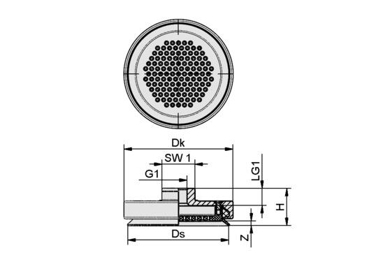 SPL 40 POM-NBR G1/8-IG
