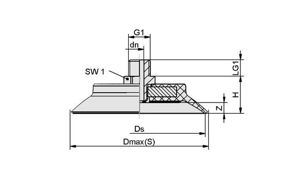 SUF 70 NBR-55 G1/4-AG
