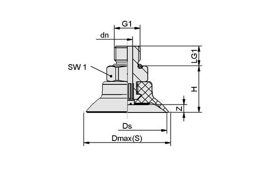 SUF 25 NBR-ESD-55 G1/8-AG