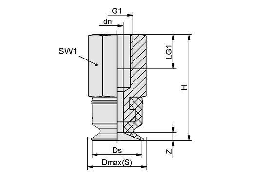 PFYN 10 NBR-ESD-55 M5-IG