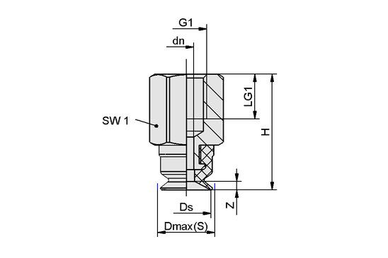 SUF 6 NBR-ESD-55 M5-IG