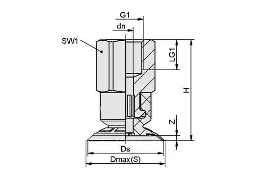 SFF 15 EPDM-45 G1/8-IG