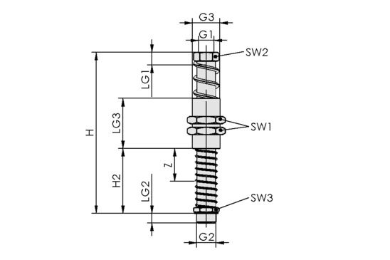 FSTA-HD G3/8-AG 25