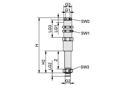 FSTE-HDB G1/8-AG 45 VG-AB