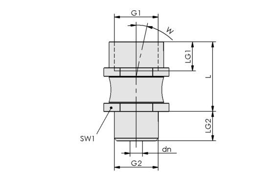 FLK G1/4-IG M10x1.25-AG