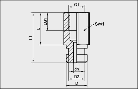 SA-NIP N022 G1/8-IG DN350