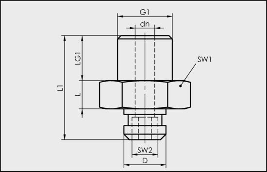 SA-NIP N022 G1/8-AG DN350