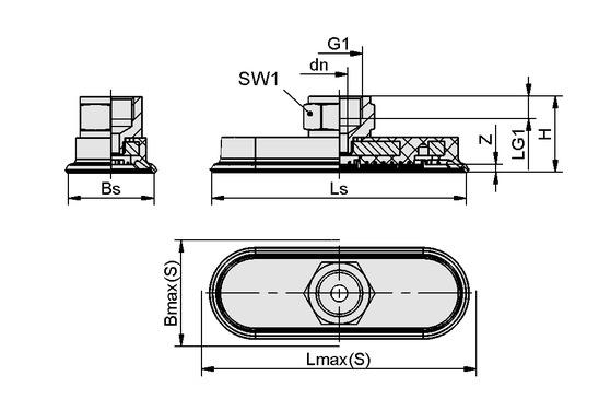 SAOF 60x23 NBR-45 NPT3/8-IG