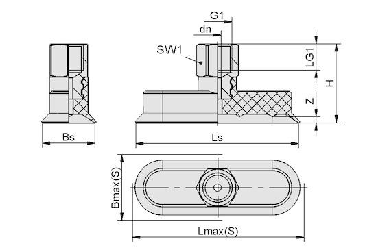 SGON 45x15 SI-65 G1/4-IG