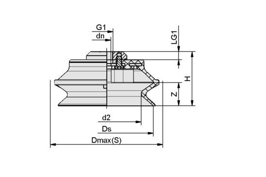 FSGA 110 NBR-70 G1/2-IG