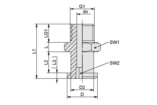 SA-NIP N015 G1/4-AG DN600