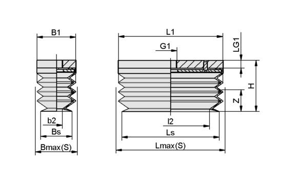 FSGB-R 80x30 SI-50 G1/8-IG