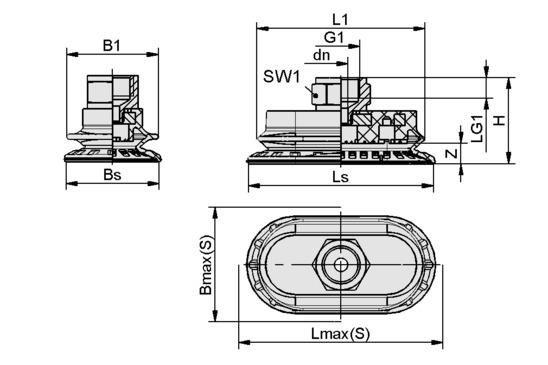 SAOB 60x30 HT1-60 G3/8-IG