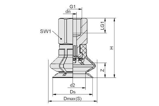 SPB1 20 ED-65 G1/8-IG