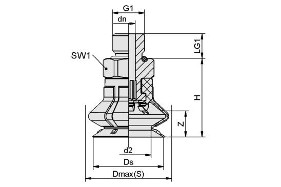 SPB1 25 ED-65 G1/8-AG
