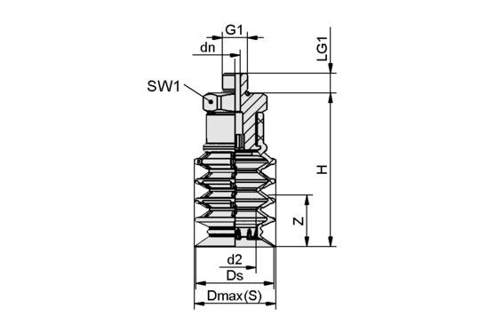 SPB4 40 SI-55 G1/4-AG