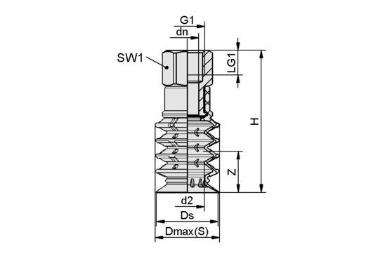 SPB4 50 SI-55 G3/8-IG
