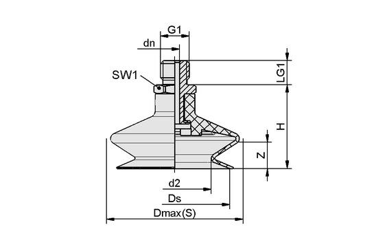 FSGA 14 NBR-ESD-55 G1/8-AG