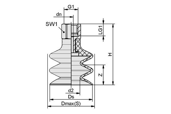 FSG 7 NBR-ESD-55 G1/8-IG