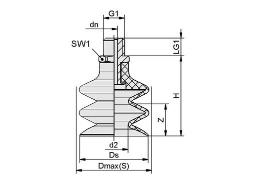 FSG 12 NBR-ESD-55 G1/8-AG