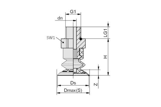 SFB1 25 EPDM-45 G1/8-AG