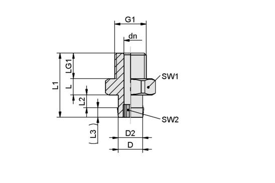 SA-NIP N016 G1/8-AG DN350