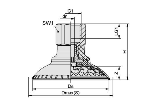 SAXM 80 ED-85 G3/8-IG