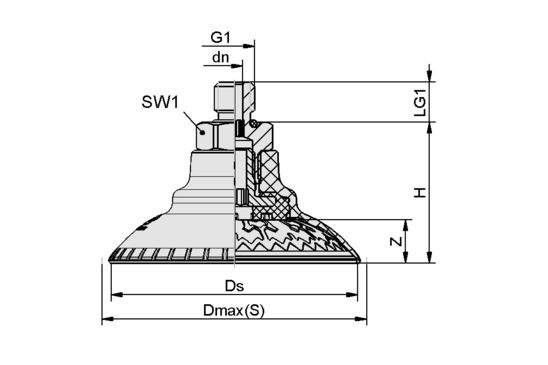 SAXM 115 ED-85 M14x1.5-AG