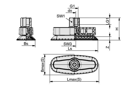 SAOXM 80x30 ED-85 G3/8-IG