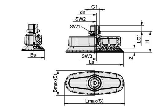 SAOXM 100x40 ED-85 G1/4-AG
