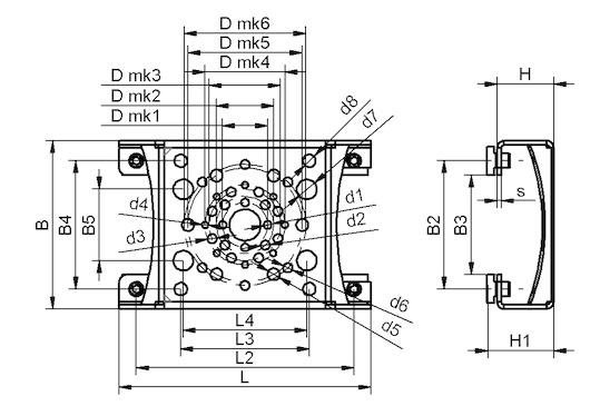 MOD-FLAN 176.6x118x40 FXP