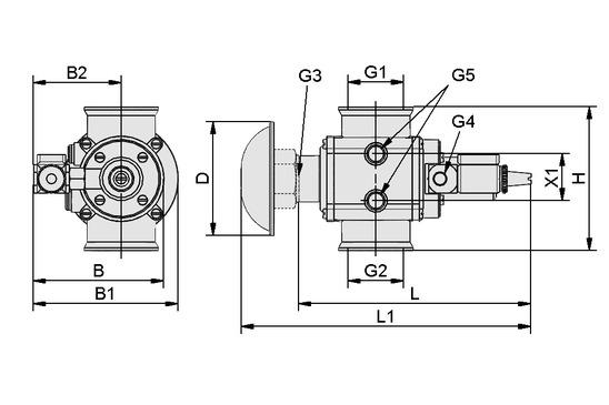 EMVP 50 230V-AC 3/2 NC