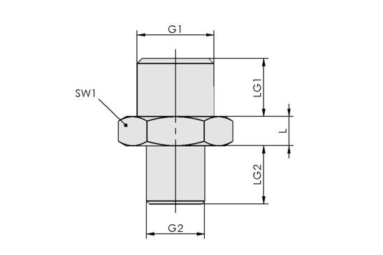 SVN G1/4-AG M10x1.25-AG N009