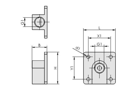 FLAN-PL 30x14x30 AL-EL VS