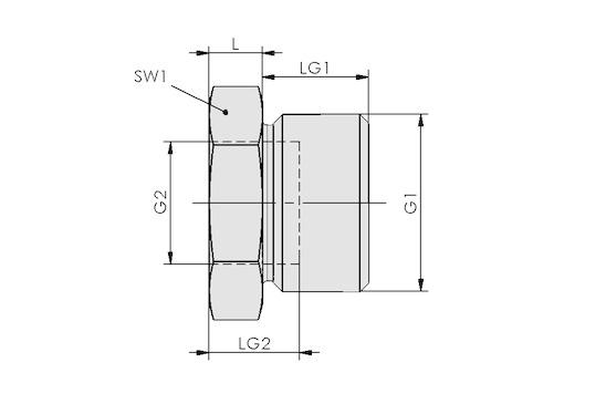 RED-STK G1/4-AG G1/8-IG MS-V