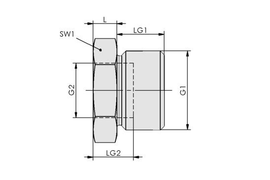 RED-STK G3/8-AG G1/8-IG MS-V