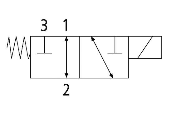 EMV 10 24V-DC 3/2 NO