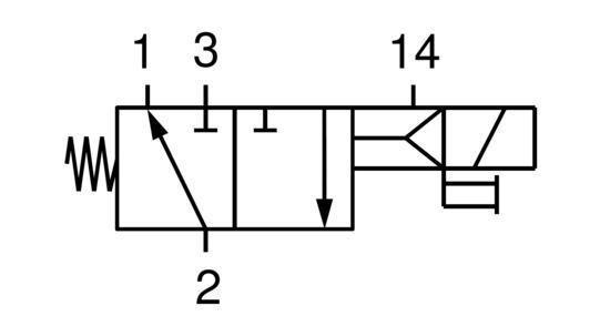 EMVP 32 230V-AC 3/2 NO
